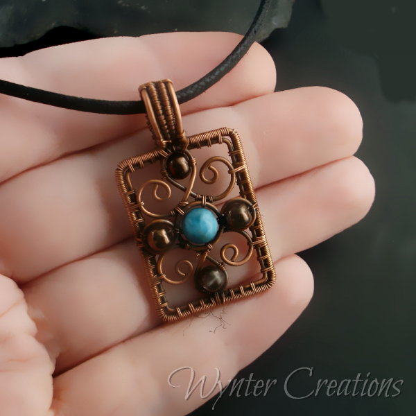 Renaissance Inspired Copper Pendant