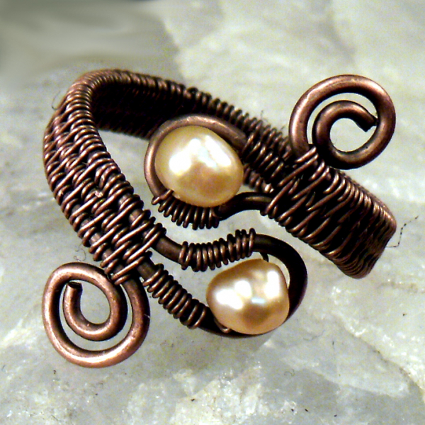 Double Gem Wire Woven Ring Tutorial Image 2