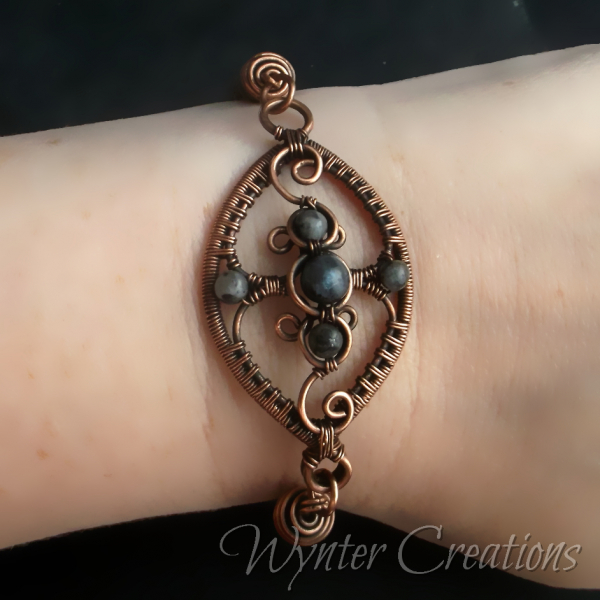 filigree viking knit wirework wirewrap bracelet