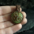 Triple Spiral Pendant in Copper and Green Calcite
