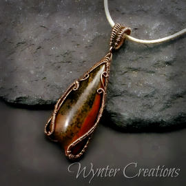 wire work gemstone pendant