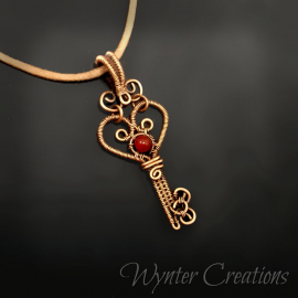 Copper wire wrap heart