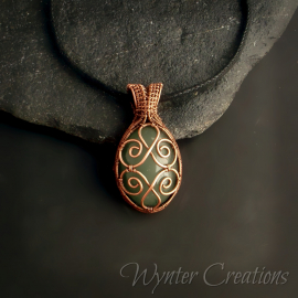 Wire Wrap Filigree Pendant