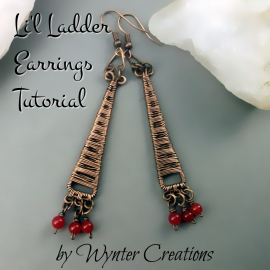 boho wire wrapped earrings tutorial