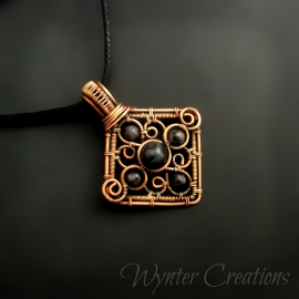Copper Filigree Pendant