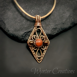 Wire Wrap Gemstone Pendant
