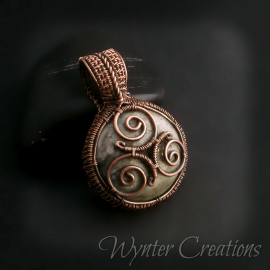 Celtic spiral wire wrap pendant
