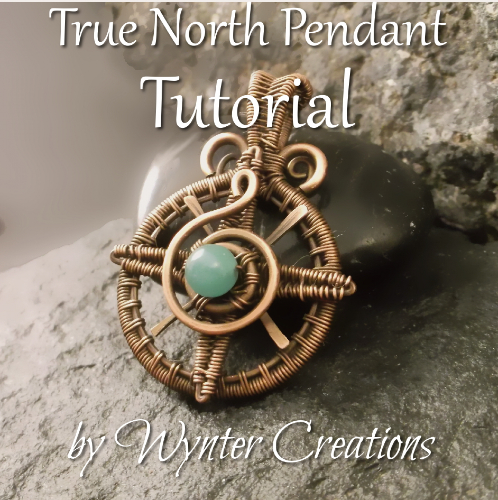 26 Gauge Wire >> True North Compass Rose Pendant Tutorial | WynterCreations