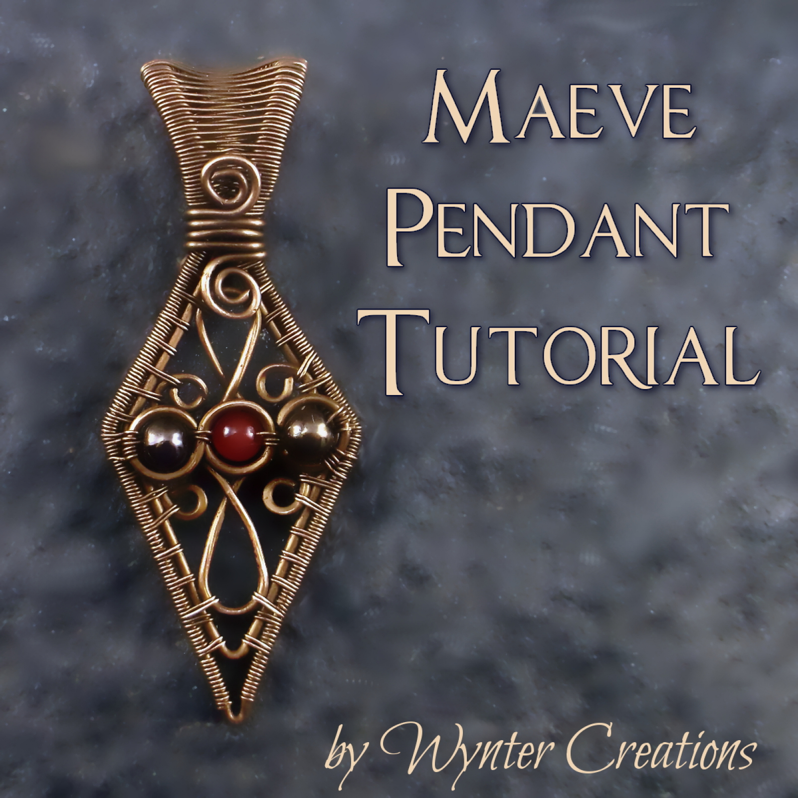 Maeve pendant tutorial wyntercreations wire wrapped pendant tutorial aloadofball Image collections