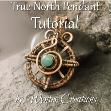 True North Compass Rose Pendant Tutorial