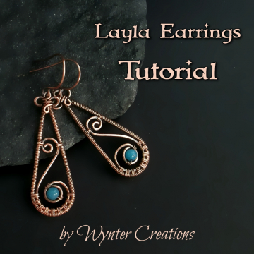 Layla Wire Wrapped Drop Earrings Tutorial