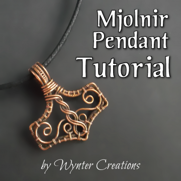 Mjolnir (Thor's Hammer) Wire Wrap Pendant TUTORIAL