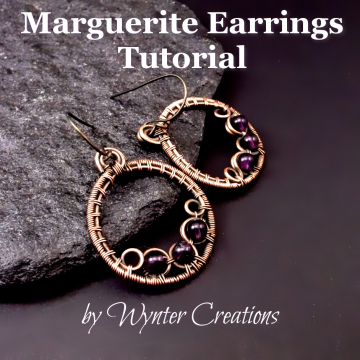 Marguerite Wire Wrapped Hoop Earrings Tutorial