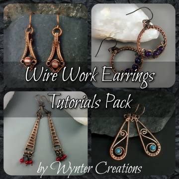 Wire Work Earrings Tutorial Pack