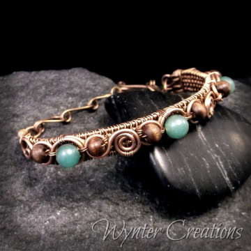 Kalyn Cufflet with Wood and Aventurine