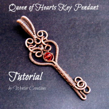 Queen of Hearts Key Pendant Tutorial