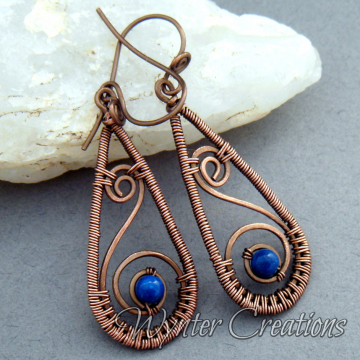 Layla Earrings with Blue River Stone