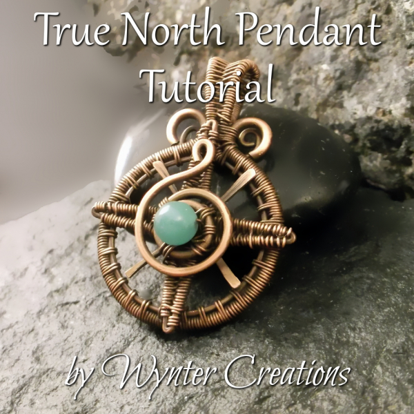 Symbolic Compass Pendant with Wire Weaving