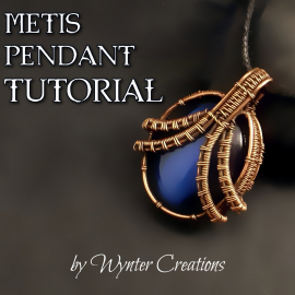 Wire weaving pendant tutorial instructions diy