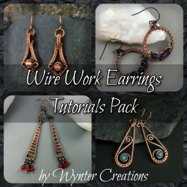 4 earrings tutorial bundle