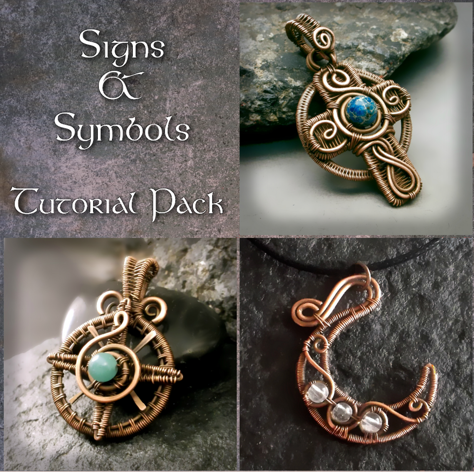 Signs  U0026 Symbols Wire Wrapped Jewelry Tutorial Pack