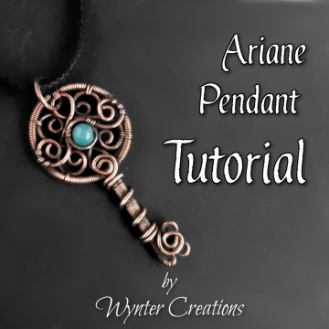 Ariane Wire Wrap Key Pendant TUTORIAL