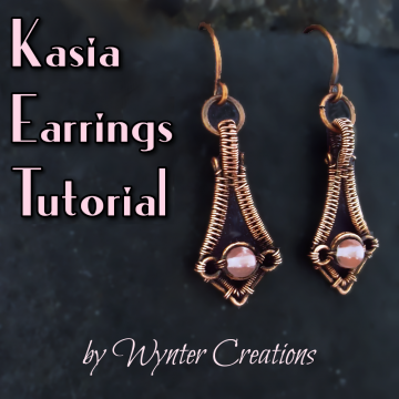 Kasia Wire Weave Earrings TUTORIAL