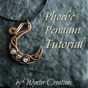 Phoebe Crescent Moon Pendant Tutorial